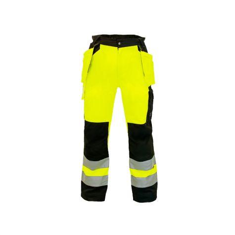 Gobalt Gear Carbon Hi-Vis Riipputaskuhousut keltainen